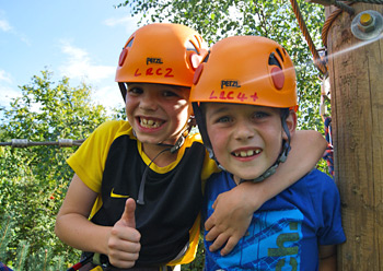 New for 2013! Our Junior Challenge Course for 6 - 12 year olds is now open! Stepping stones, Hanging tunnels, Balance logs, Burma buckets, a Vine traverse, Swinging tyres and much more!