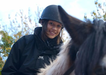 Whether it's a pony ride from 4 years old, an hour trek from 7 years, regular riding lessons or riding holidays, we have plenty of options for children at our riding centre!
