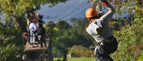 Sky Trek is a unique and exciting activity comprising a series of over 14 connected zip lines travelling between trees at heights of up to 22 metres as it zig-zags down the mountainside!